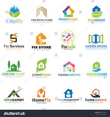 home real estate logo collection house stock vector 297178406