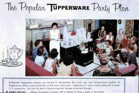 home party plans florida memory advertisement showing a tupperware home party