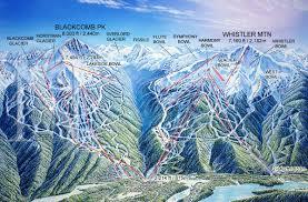 Maps Canada by Whistler Canada James Niehues Map Artist Ski Maps Regional
