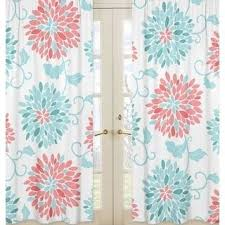 coral curtains etsy within coral patterned curtains coral