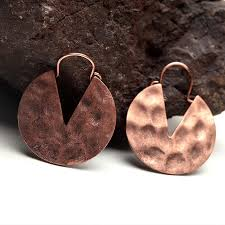 creative earrings women s hot retro style copper delicate hoop huggie earrings