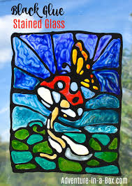 black glue stained glass art adventure in a box