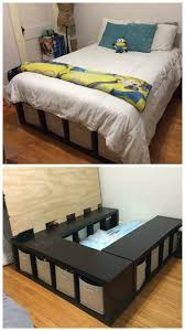 Small Bed Frame Susan Decoration by Best Queen Storage Bedframe New Pine 7 Drawer Bed Storage