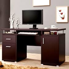 home office desks modern modern floating top design home office cappuccino computer desk