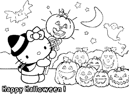 happy halloween coloring pages kitty coloringstar