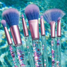 how cute are these brushes from lime crime aquarium liquid