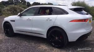 jaguar f pace black jaguar f pace v6 s awd white 2016 youtube