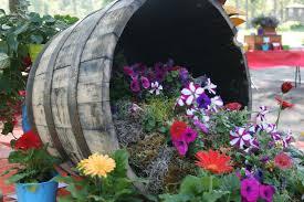 Garden Club Ideas Garden Barrel Planters Wildly Whimsical Barrel Planter Ideas