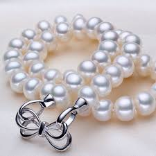 big pearls necklace images Buy ashiqi 100 aaaa white10 11mm big pearls jpg