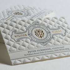 letterpress printing 3d embossed business cards with gold foil and letterpress printing