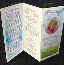 tri fold program funeral memorial program s free psd ai eps for on program