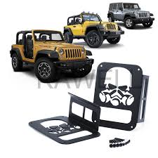 Jeep Jk Tail Light Covers Kawell Skull Gas Mask Black Light Guard Protector For 2007 2016