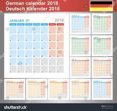 Planning Agenda Template Calendar 2018 German Planning Calendar Template Stock Vector
