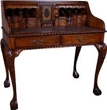antique style writing desk chippendale mid mahogany antique style escritoire desk