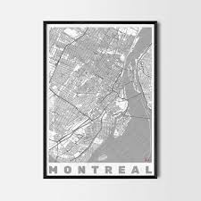 montreal gift map art prints and posters home decor gifts