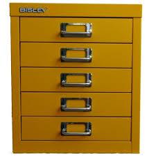 Yellow Filing Cabinet Uk 5 Multidrawer Filing Cabinet H125nl Yellow