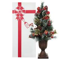 pre lit christmas gift boxes kringle express 24 pre lit decorated christmas tree in gift box