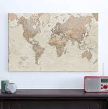 canvas antique map of the world by maps international