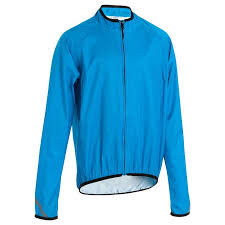 cycling jacket blue 300 junior waterproof cycling jacket blue decathlon