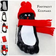 salt dough footprint penguin