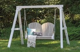 Swings For Backyard Backyard Ect Amish Made Poly Outdoor Furniture Adirondack