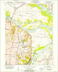 United States Topographical Map by 1951 Columbia Bottom Mo Il 7 5 Minute Series Historical