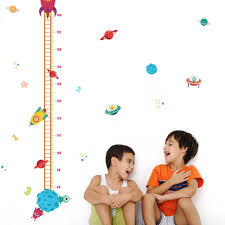 online get cheap kids growth chart wall decal aliexpress com space spacecraft wall stickers height sticker home decor kids room living room wall decal posters removeable growth chart