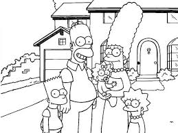 simpsons front house coloring simpsons