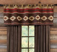 Curtain Valances Designs Western Curtains And Window Treatment Lone Star Western Décor