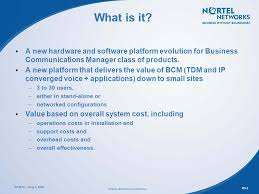 business communications class overview of new nortel networks small site solution nortel