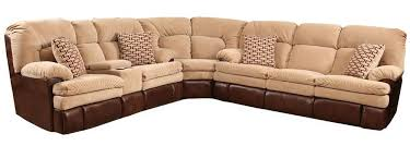Homestretch Reclining Sofa Homestretch 103 3 Casual Two Tone Reclining Sofa Sectional