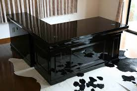 new ritzy 2br presidential desk executive desk piano painted black