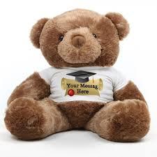 personalized graduation teddy buttercup chubs 38 chestnut brown graduation teddy