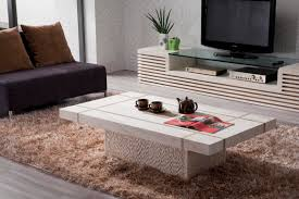 decor marble coffee table with cozy rug for dining room
