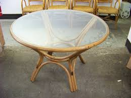 Rattan Accent Table Table Wicker Table With Glass Top Neuro Furniture Table