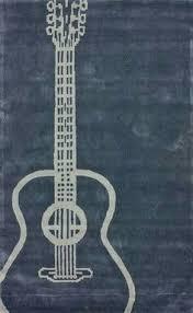 Cheap Childrens Rugs Ustide Guitar Rug Handmade Rug Wearproof Durable Floor Carpet Art
