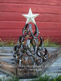 horseshoe christmas tree rustic christmas tree twisted wire horseshoe decor