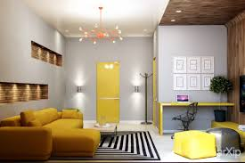 living room panel laminate wooden flooring cool yellow wall
