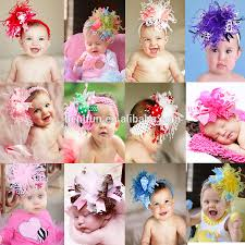 baby girl headwraps baby headband fancy knitted flower headwrap view flower