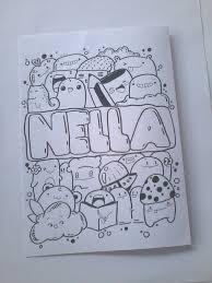 doodle name doodle name nella by zamrudart on deviantart