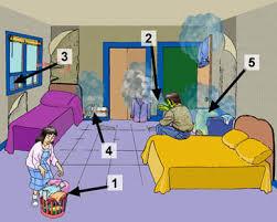 humidité dans une chambre causes et signes