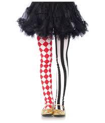 Harlequin Halloween Costume Harlequin Girls Tights White Clown Stockings Red Diamond Black