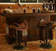 Pottery Barn Bar Stools Rustic Ultimate Bar Small Pottery Barn Omg If Those Saddle