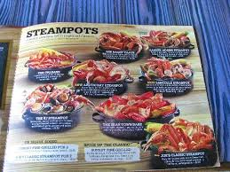 joes crab shack the menu picture of joe s crab shack indianapolis tripadvisor