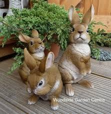 arts resin small rabbit garden ornament woodside garden