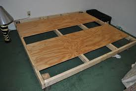 Low Waste Platform Bed Plans by Diy Bed Frame