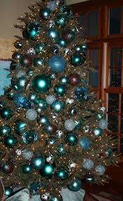 Brown And Turquoise Christmas Tree Decorations by Bluer Than Blue Tobi Fairley