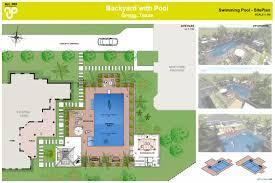 pool plans free plans backyard design plans