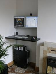 stick your desk in a corner with lots of monitors office