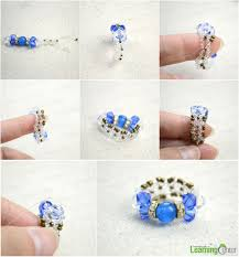 make mothers rings images Diy bow rings for mother 39 s day out of seed beads and glass beads jpg